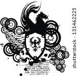 heraldic coat of arms crest... | Shutterstock .eps vector #131462225