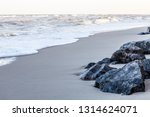 stones on the sandy seashore....   Shutterstock . vector #1314624071