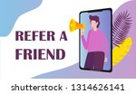 refer a friend vector of appeal ...