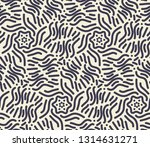 navy and cream spiral doodle... | Shutterstock .eps vector #1314631271