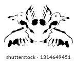 rorschach inkblot test...   Shutterstock .eps vector #1314649451