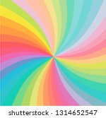 rainbow color swirl twist... | Shutterstock .eps vector #1314652547