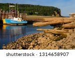 old dock and owls head cliff at ... | Shutterstock . vector #1314658907