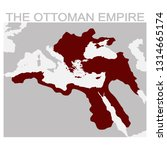 vector map of the ottoman... | Shutterstock .eps vector #1314665174