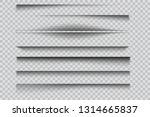 set of  vector transparent... | Shutterstock .eps vector #1314665837