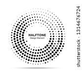 halftone circle dotted frame... | Shutterstock . vector #1314676724