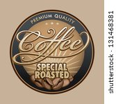 coffee labels | Shutterstock .eps vector #131468381