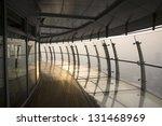 glass corridor in the sunset... | Shutterstock . vector #131468969