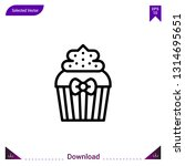 cupcake gift vector icon. best...