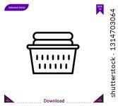 basket laundry  vector icon....