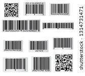 barcode and qr code sticker... | Shutterstock .eps vector #1314731471