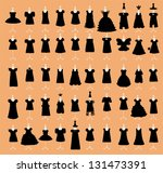 little black dresses set vector | Shutterstock .eps vector #131473391