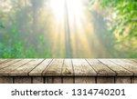 empty wooden table background | Shutterstock . vector #1314740201