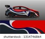 racing car decal wrap vector... | Shutterstock .eps vector #1314746864