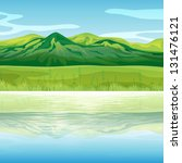 illustration of a mountain... | Shutterstock . vector #131476121