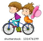 illustration of the lovers... | Shutterstock . vector #131476199
