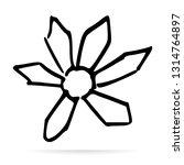 leaves or flowers vector design ...   Shutterstock .eps vector #1314764897