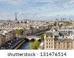 paris seen from the top of... | Shutterstock . vector #131476514
