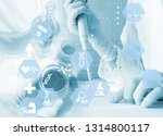 experiments in the laboratory | Shutterstock . vector #1314800117