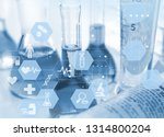 experiments in the laboratory | Shutterstock . vector #1314800204