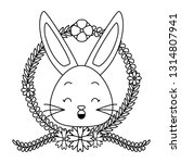 cute rabbit face cartoon | Shutterstock .eps vector #1314807941