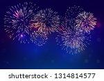 colorful fireworks vector ... | Shutterstock .eps vector #1314814577