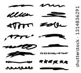 collection of hand drawn... | Shutterstock .eps vector #1314836291
