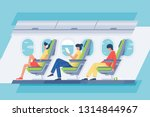 man and woman passenger with... | Shutterstock .eps vector #1314844967
