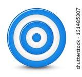 blue darts target aim on white... | Shutterstock .eps vector #131485307