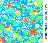 abstract watercolor hand... | Shutterstock . vector #1314876197
