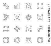 blockchain linear icons. set of ...   Shutterstock .eps vector #1314896147