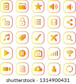 icon set for mobile apps golden ...