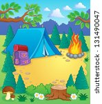 camp theme image 1   vector... | Shutterstock .eps vector #131490047