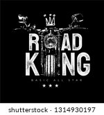 Road King Slogan With...