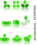 green logo design samples | Shutterstock .eps vector #13149346