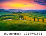 amazing summer colorful sunset... | Shutterstock . vector #1314941531
