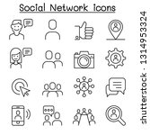 social network  social media... | Shutterstock .eps vector #1314953324