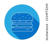 hamburger icon with long shadow....