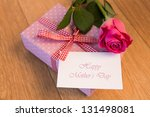Pink Wrapped Present With Happ...