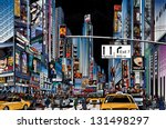 vector illustration of a street ... | Shutterstock .eps vector #131498297