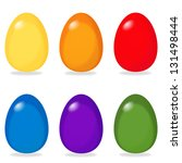 six simple easter eggs in... | Shutterstock . vector #131498444