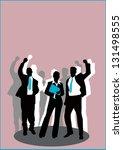 business poster or flyer... | Shutterstock . vector #131498555