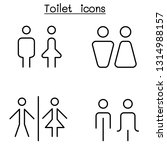 toilet  restroom  bathroom icon ... | Shutterstock .eps vector #1314988157