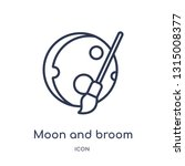moon and broom icon from shapes ... | Shutterstock .eps vector #1315008377