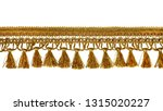 fringe. yellow braid with... | Shutterstock . vector #1315020227