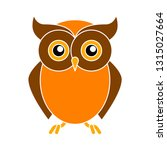 Stock vector owl icon owl isolated wild bird illustration vector owl 1315027664