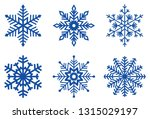 set of ice blue frosty... | Shutterstock .eps vector #1315029197