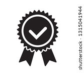 quality check ribbon icon.... | Shutterstock .eps vector #1315041944
