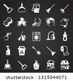 cleaning icons set on black...   Shutterstock .eps vector #1315044071