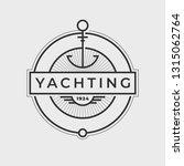 yachting club logo set.... | Shutterstock .eps vector #1315062764